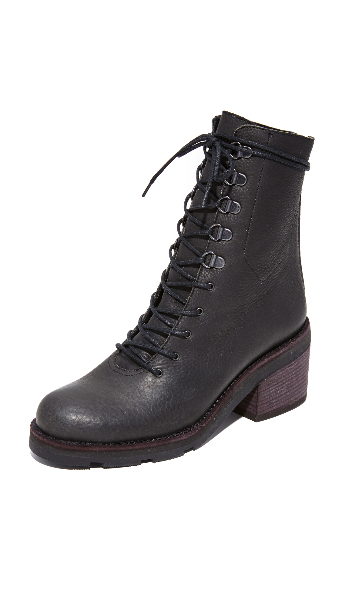 LD Tuttle The Below Lug Sole Combat Boots - Black