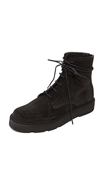 LD Tuttle The Drifter Combat Boots - Black