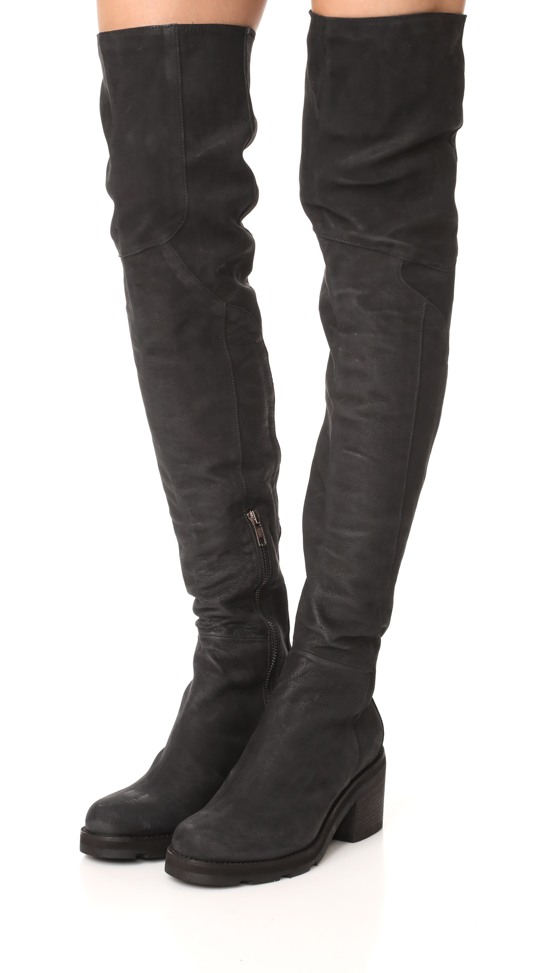 LD Tuttle The Stack Leather Over-the-knee Boots z38hc