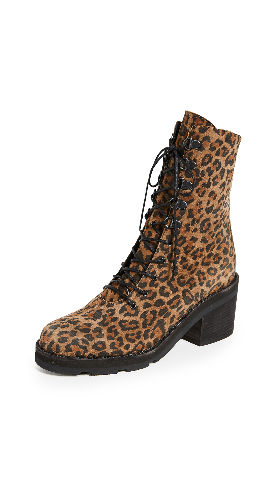 LD Tuttle Below Combat Boots - Leopard