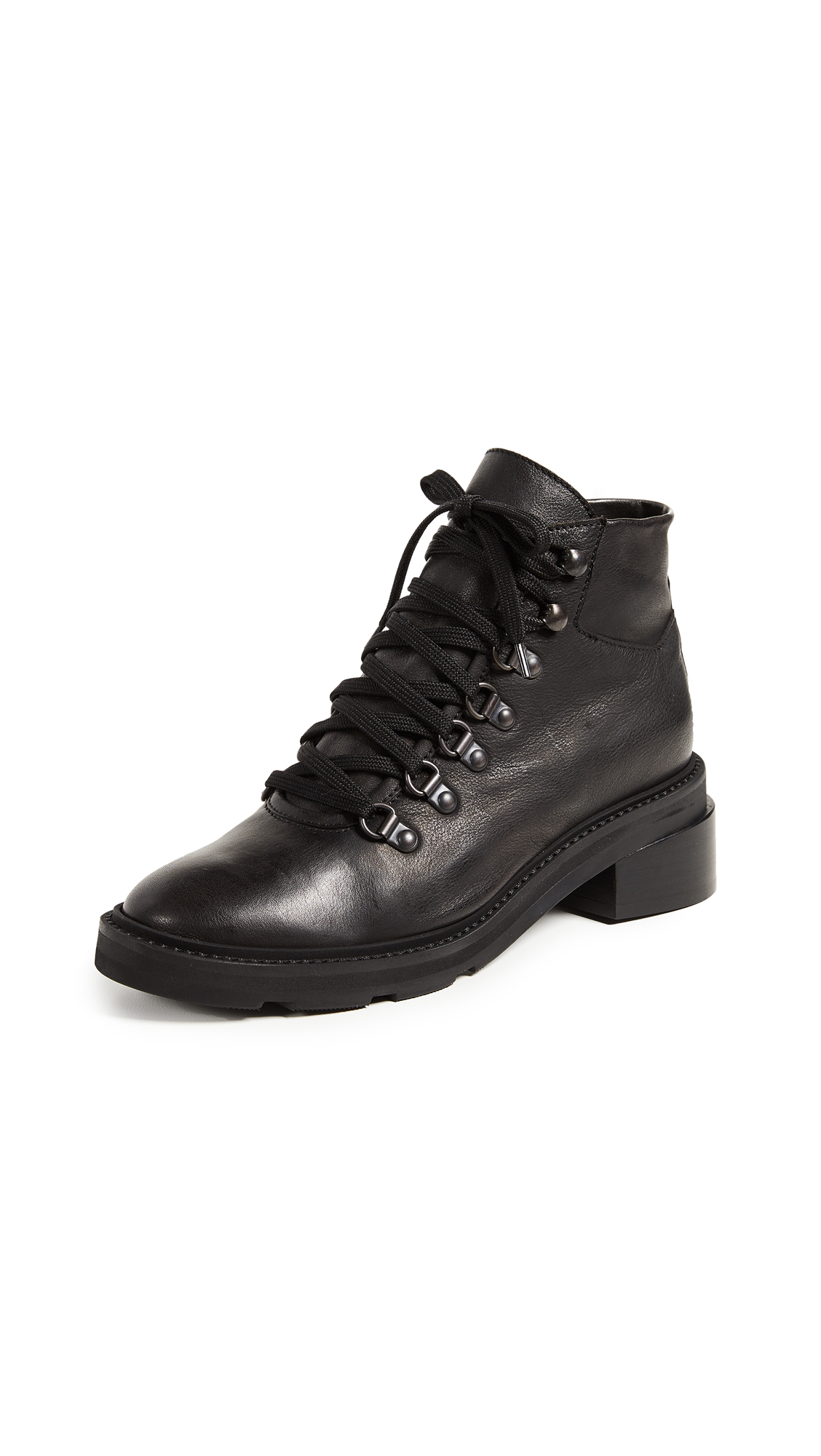 LD TUTTLE The Margin Combat Boots in Black