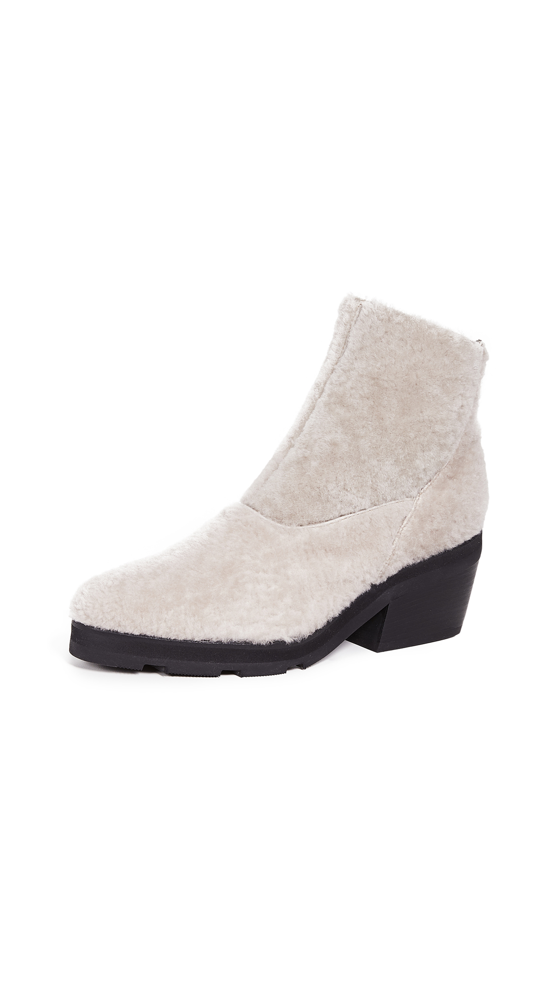 LD TUTTLE The Door Shearling Booties in Fog