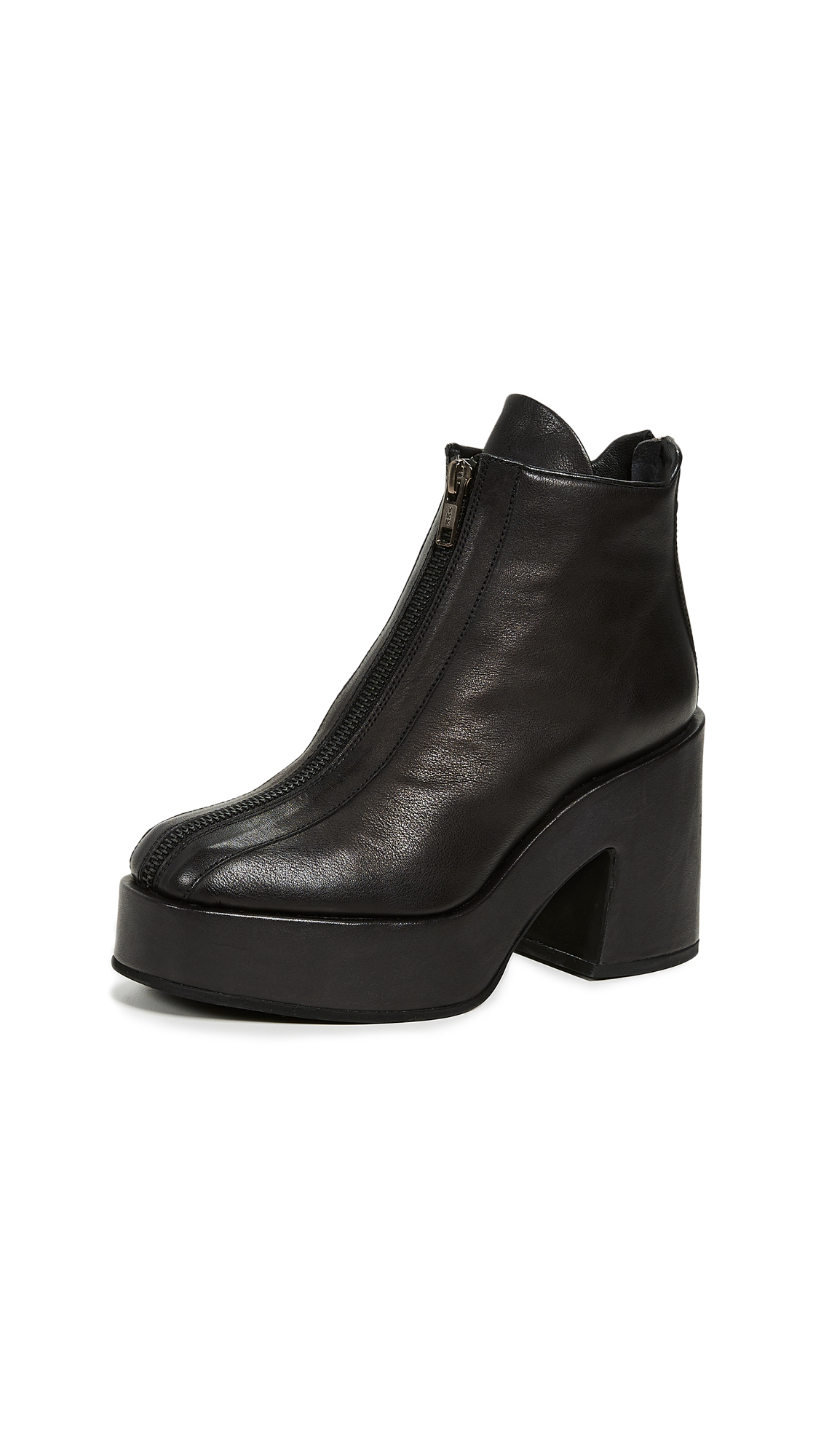 LD Tuttle The Battle Block Heel Ankle Boots - Black