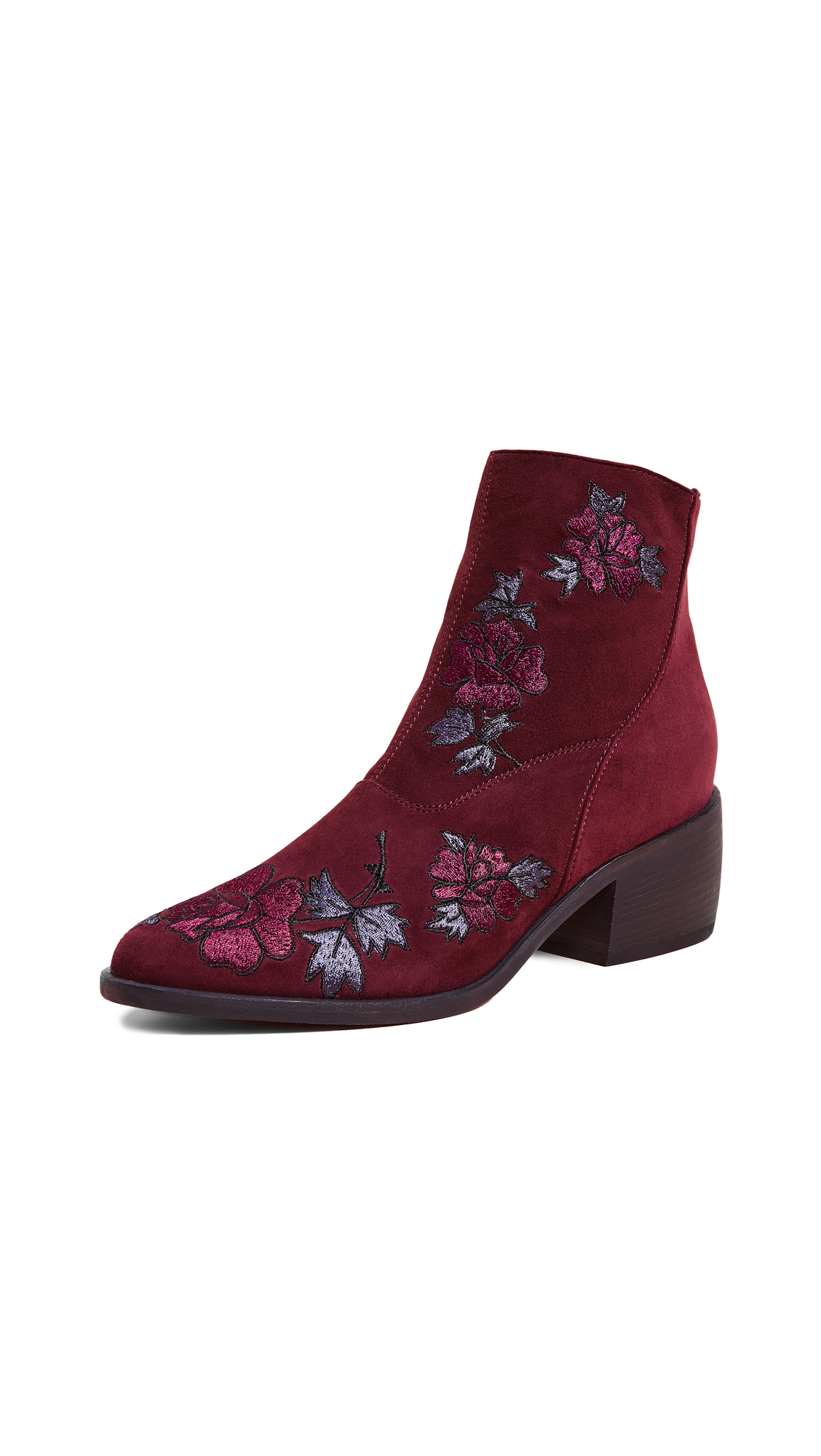 LD TUTTLE The Door Floral Booties in Stain