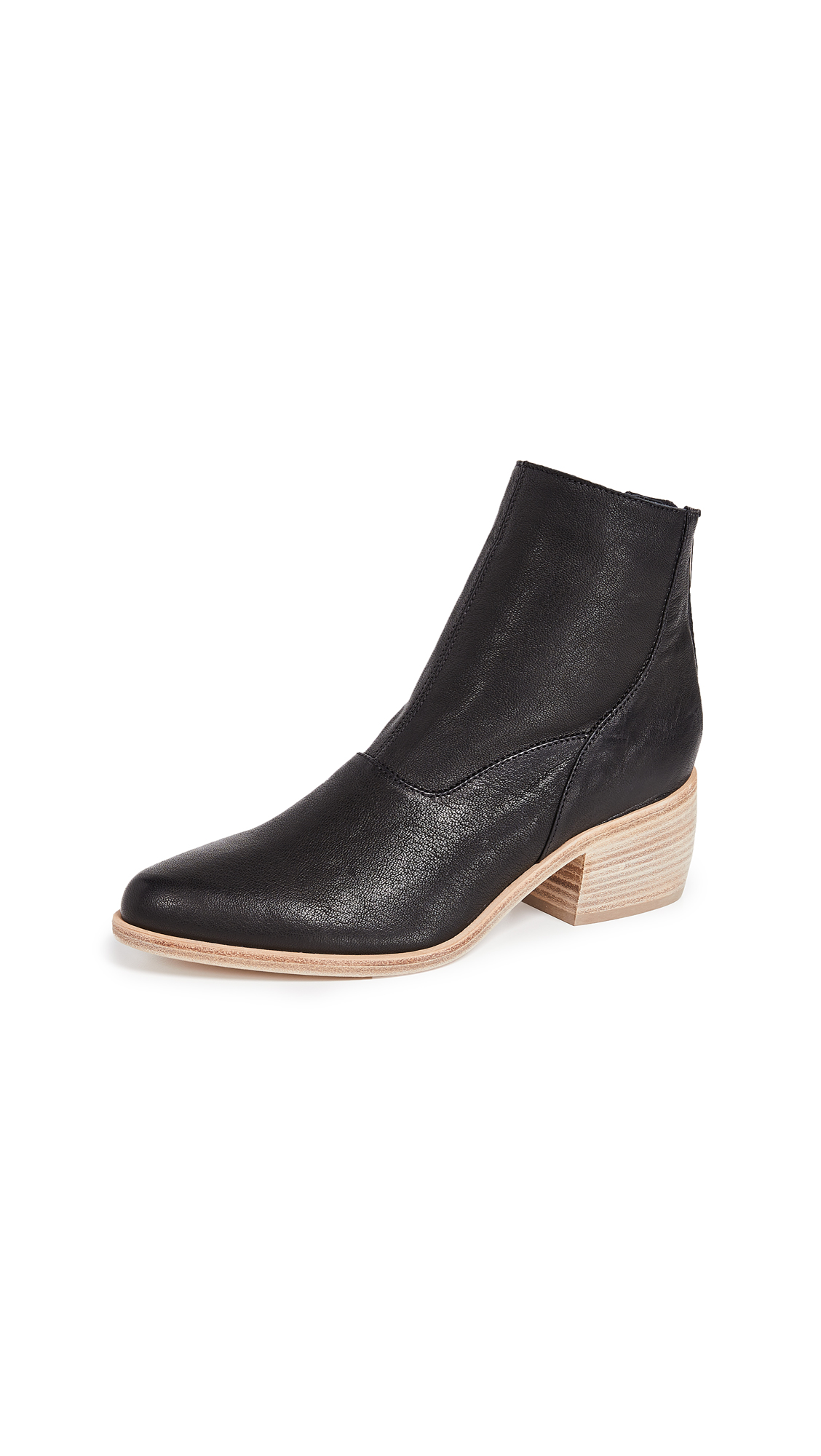 LD Tuttle The Door Block Heel Booties - Black Natural