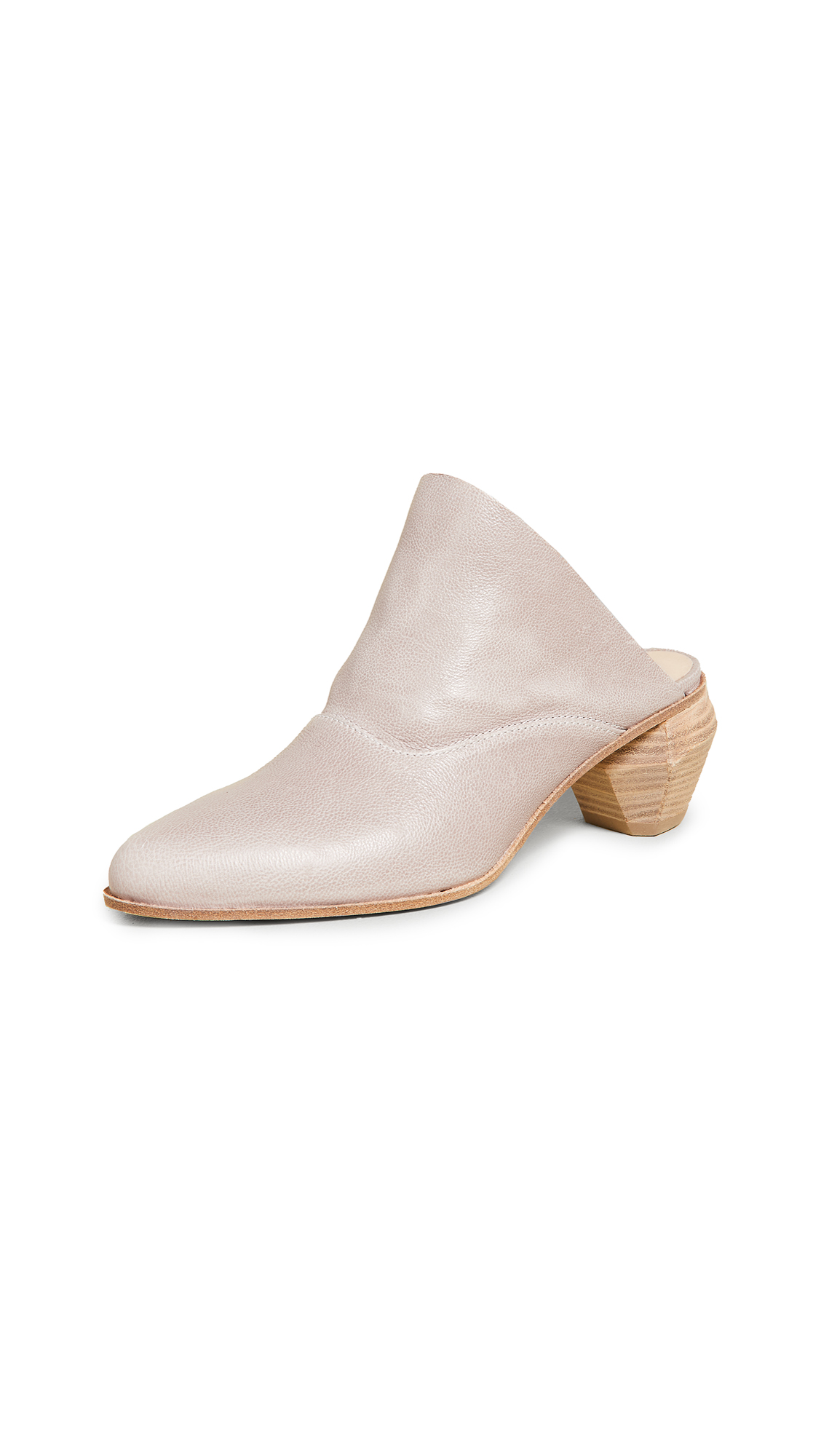 LD Tuttle The Arch Block Heel Mules - Fin Waxed