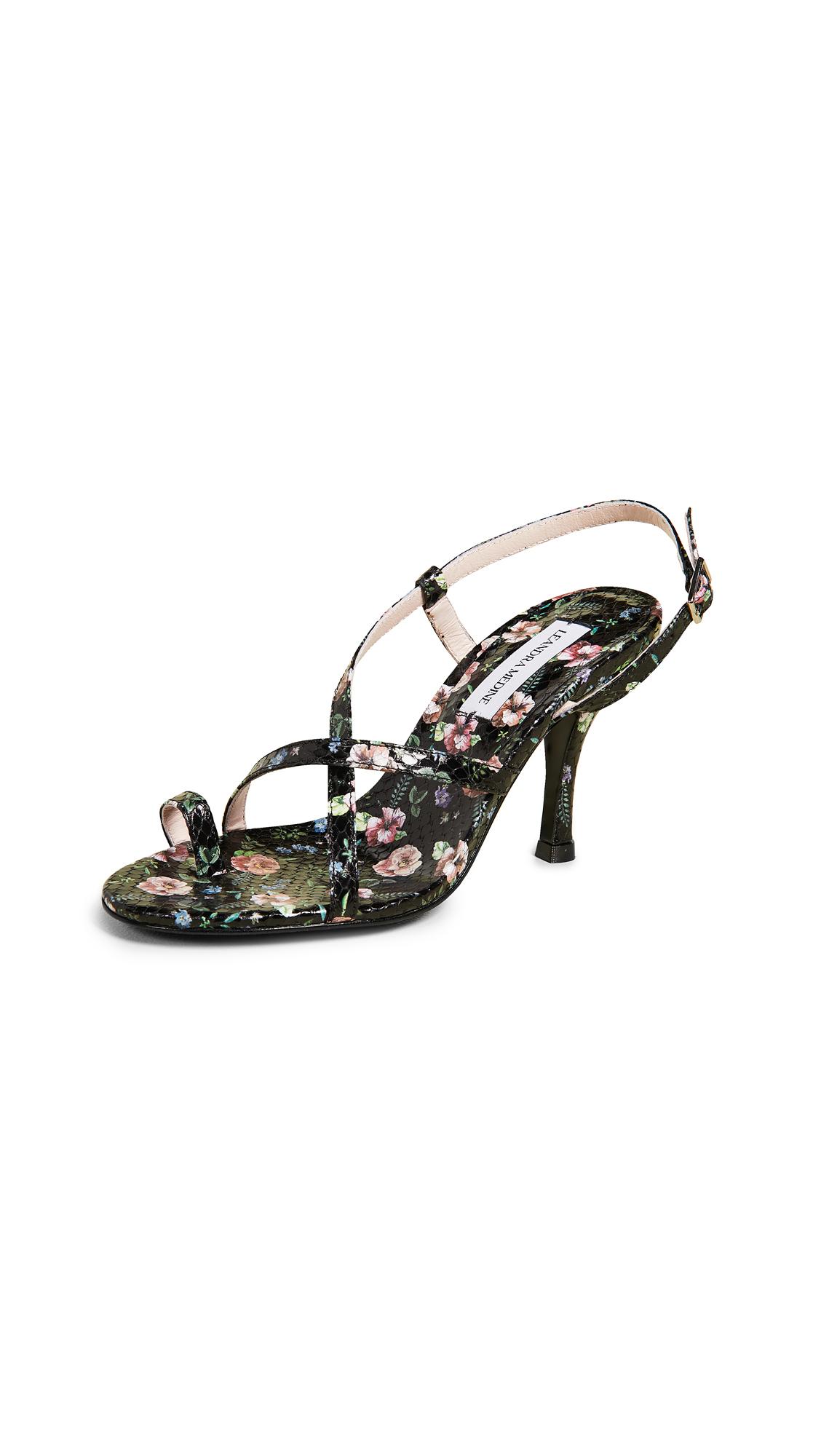 Leandra Medine High Strap Sandals - Black