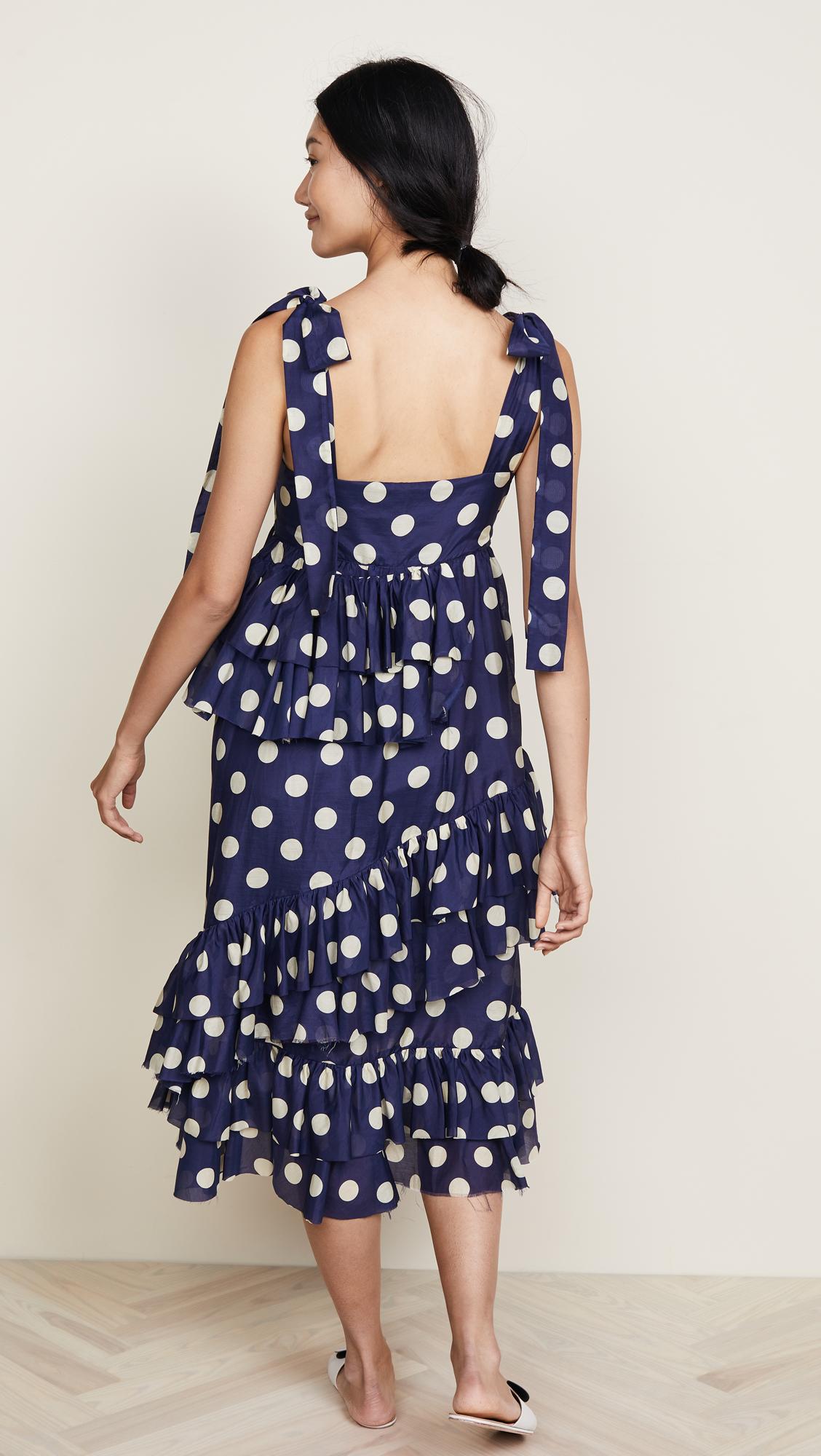 8d6fc17b12 Lee Mathews Minnie Spot Apron Dress