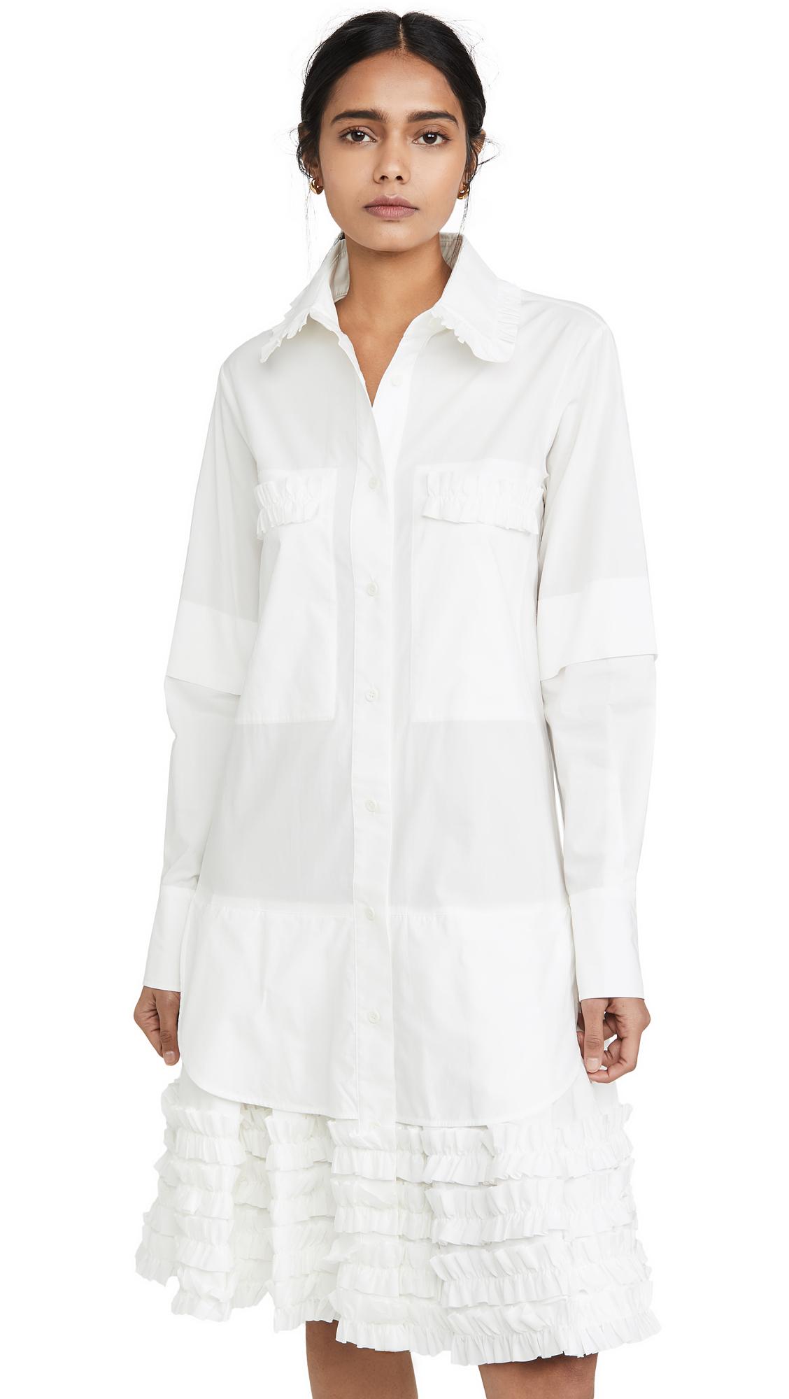 Buy Lee Mathews online - photo of Lee Mathews Elsie Ruffle Hem Dress