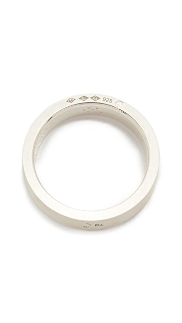 Le Gramme Le 7 Grammes Brushed Silver Ring