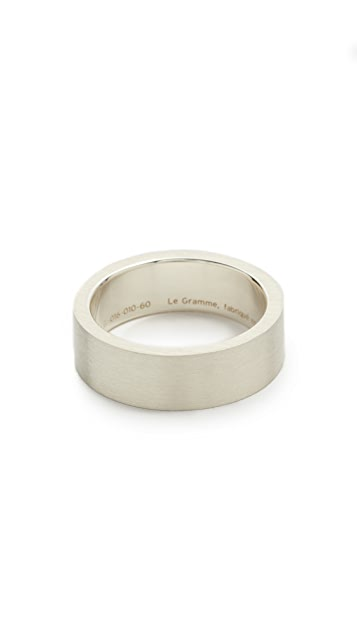 Le Gramme Le 9 Grammes Brushed Silver Ring