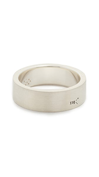Le Gramme Le 11 Grammes Brushed Silver Ring