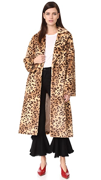 LEHA Leopard Faux Fur Coat