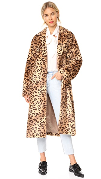LEHA Leopard Faux Fur Coat