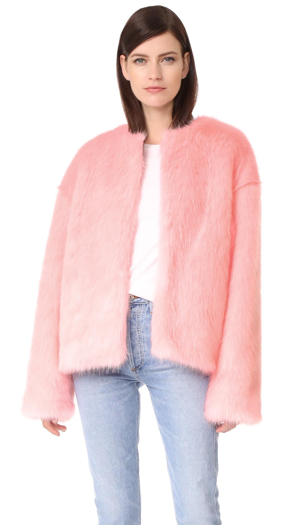 LEHA Hann Faux Fur Jacket - Pink