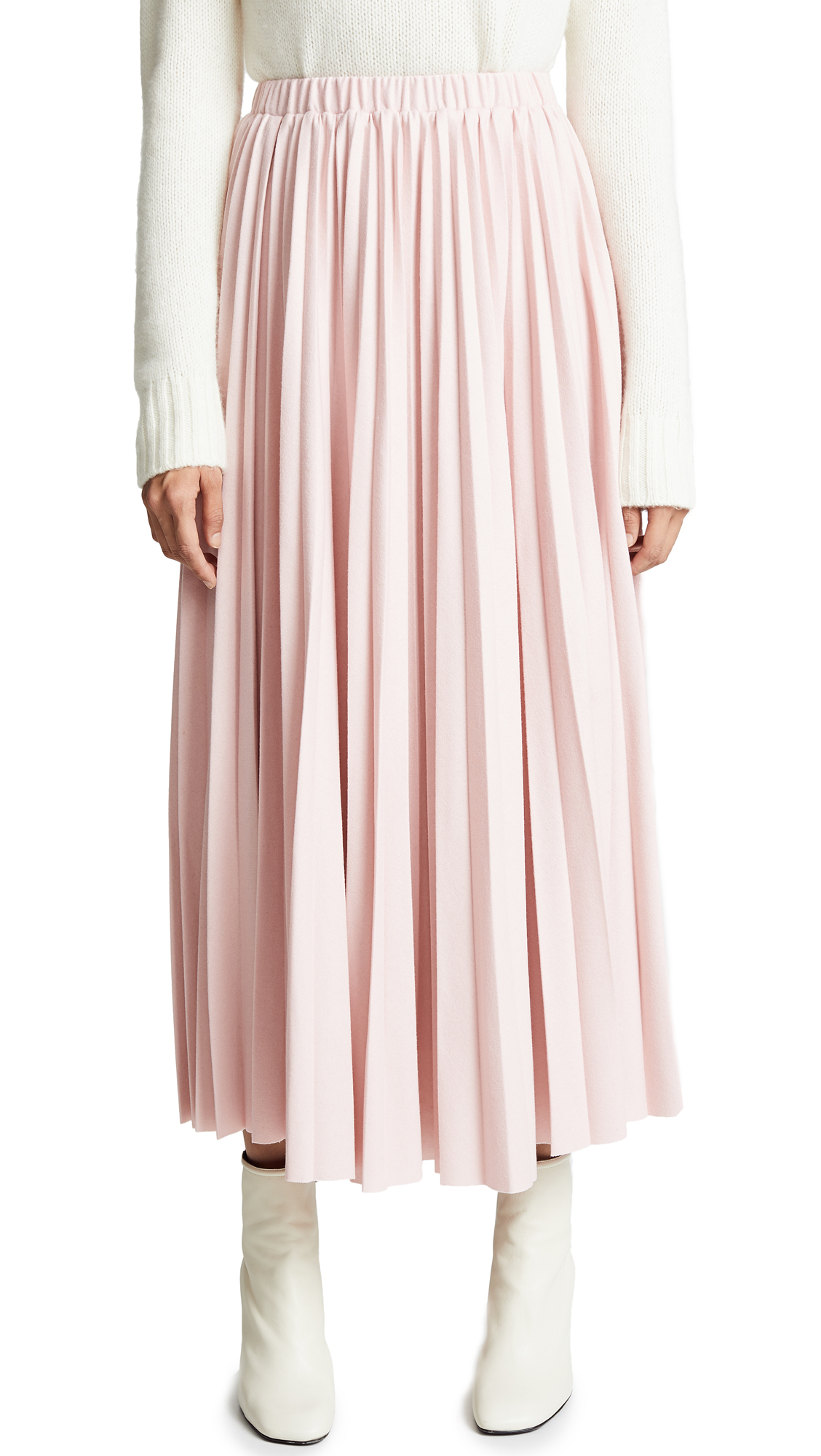 LEHA Accordion Skirt In Pink