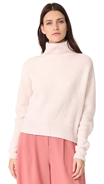 Le Kasha Mock Neck Cashmere Sweater In Light Pink