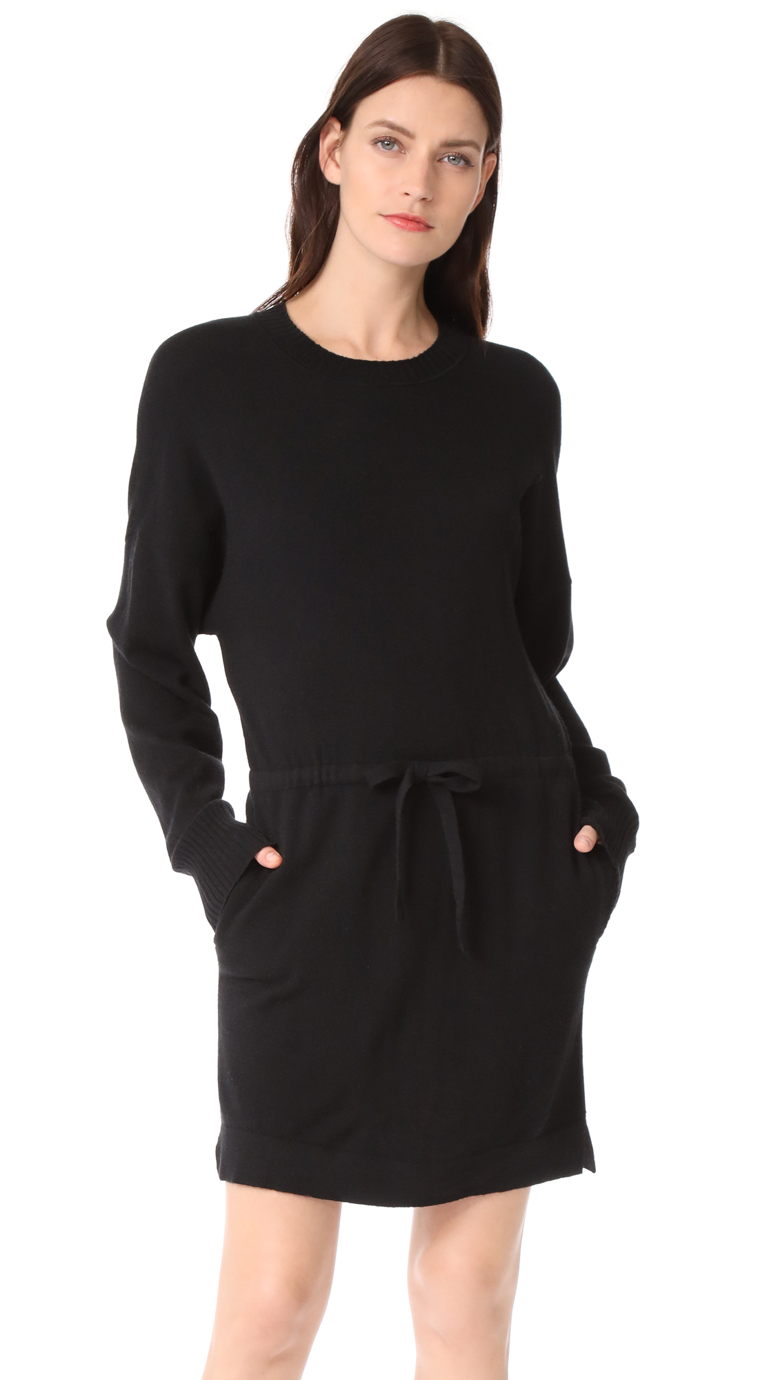 Le Kasha Cashmere Sweater Dress In Black