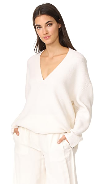 Le Kasha Oversized Cashmere Sweater In White