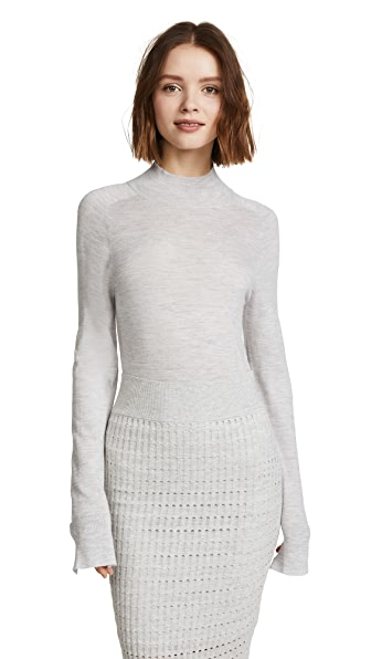 Le Kasha Kariya Cashmere Sweater In Light Grey