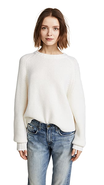 Le Kasha Komaki Cashmere Sweater In White