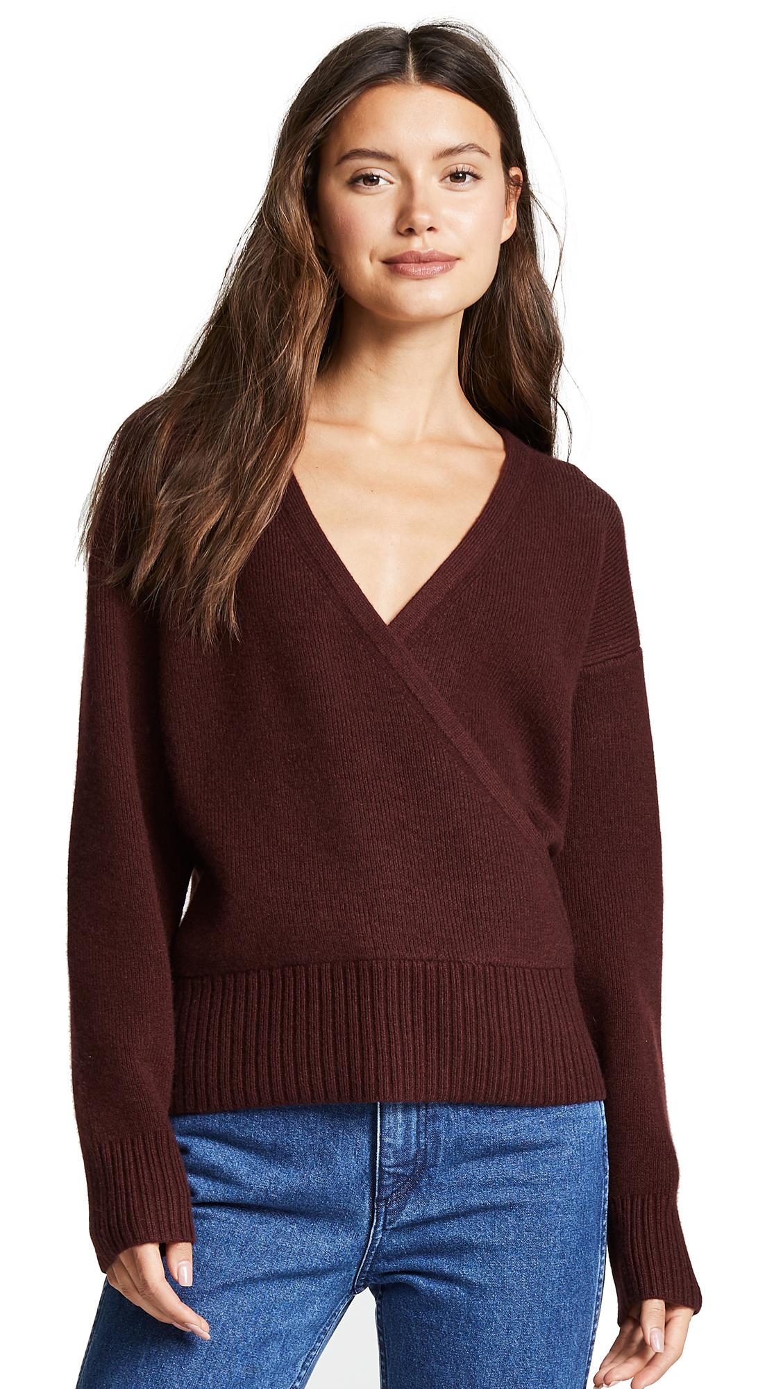 Le Kasha London Cashmere Wrap Sweater In Bordeaux