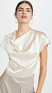 Le Kasha Cowl Neck Silk Top