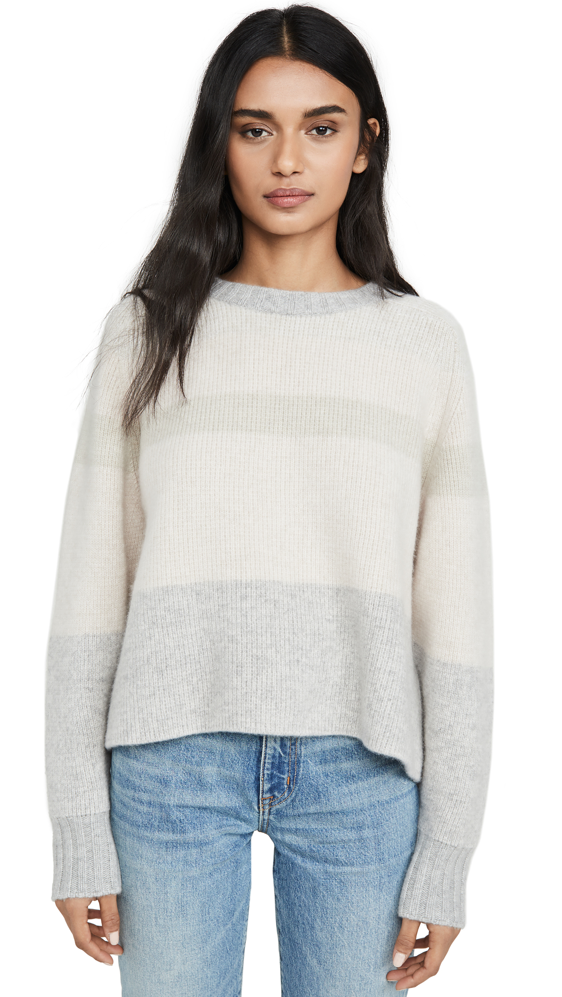 Buy Le Kasha online - photo of Le Kasha Cashmere Sweater with Big Sleeves and Double Neck