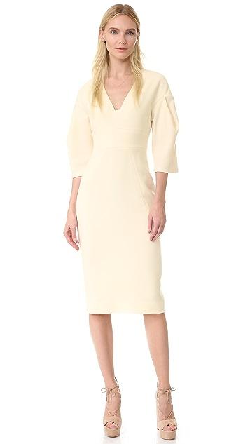 Lela Rose Full Sleeve Dress