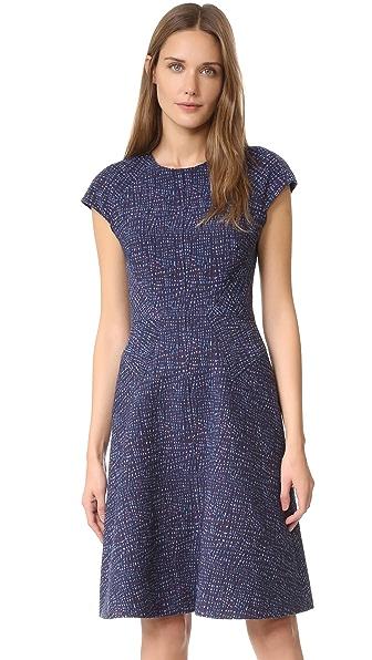 Lela Rose Blair Cap Sleeve Dress - Navy Multi