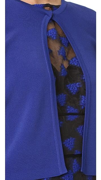 Lela Rose Long Sleeve Cropped Cardigan