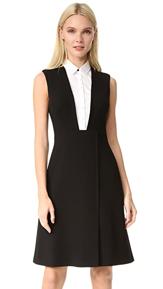 Lela Rose Sleeveless Shirt Dress - Black