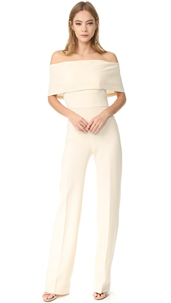 Lela Rose Off Shoulder Jumpsuit