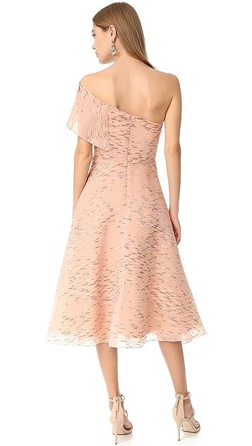Lela Rose One Shoulder Dress