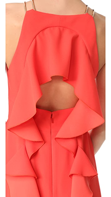 Lela Rose Ruffle Gown