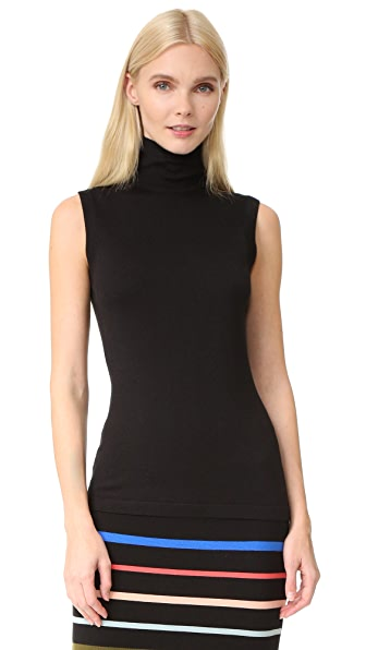 Lela Rose Sleeveless Turtleneck - Black