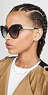 Lele Sadoughi Imitation Pearl Embellished Sunglasses