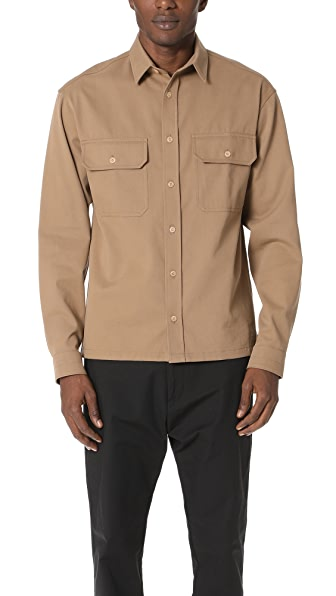 Lemaire Cotton Twill Military Shirt