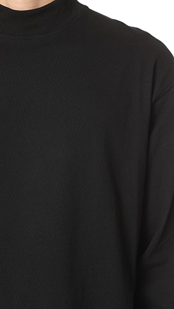 Lemaire High Collar Long Sleeve Tee