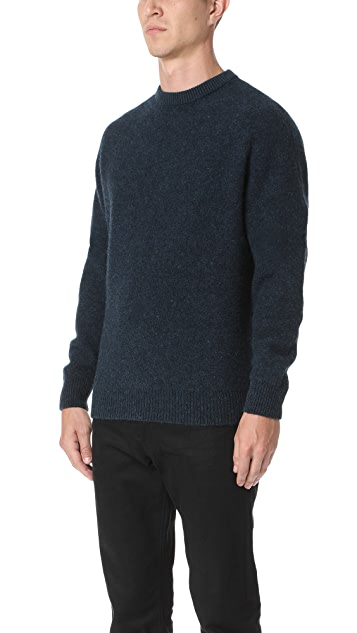 Lemaire Oversized Shetland Wool Crew Sweater