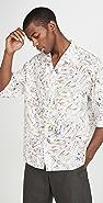 Lemaire Convertible Collar Short Sleeve Shirt