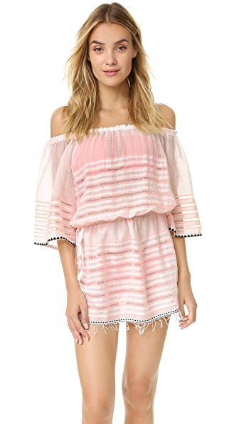 Lemlem Nadia Off The Shoulder Tunic - Petal