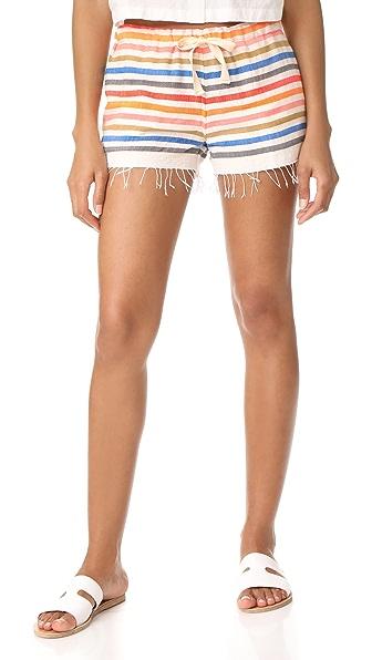 Lemlem Candace Shorts In Tangerine