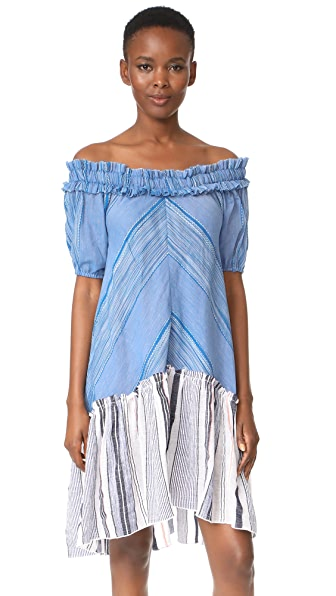 Lemlem Semay Off Shoulder Dress