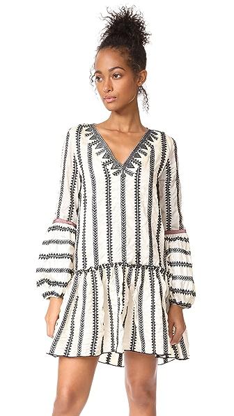 Lemlem Dahlia Mini Dress In Ivory
