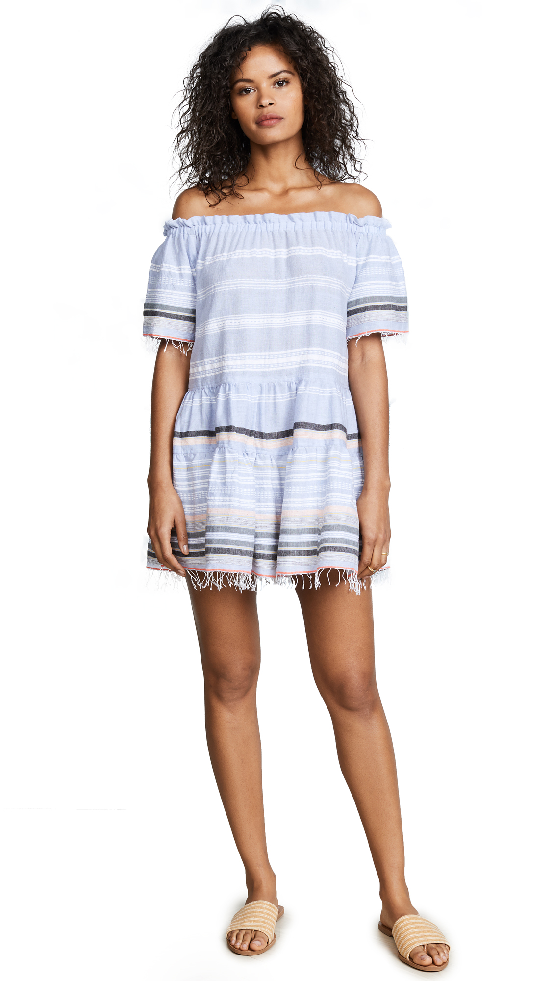 Lemlem Kal Off Shoulder Dress