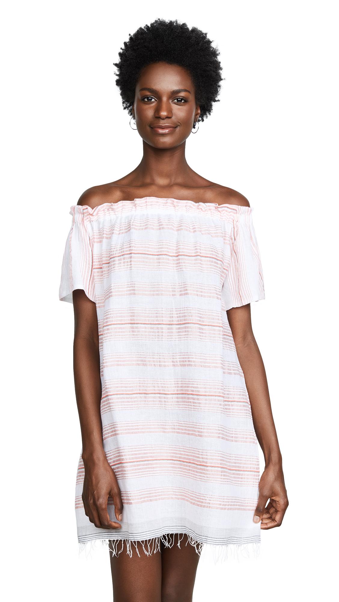 Tereza Ruffle Neck Dress in Pink