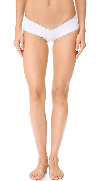 Les Coquines Dominique Cheeky Panties - Blanc