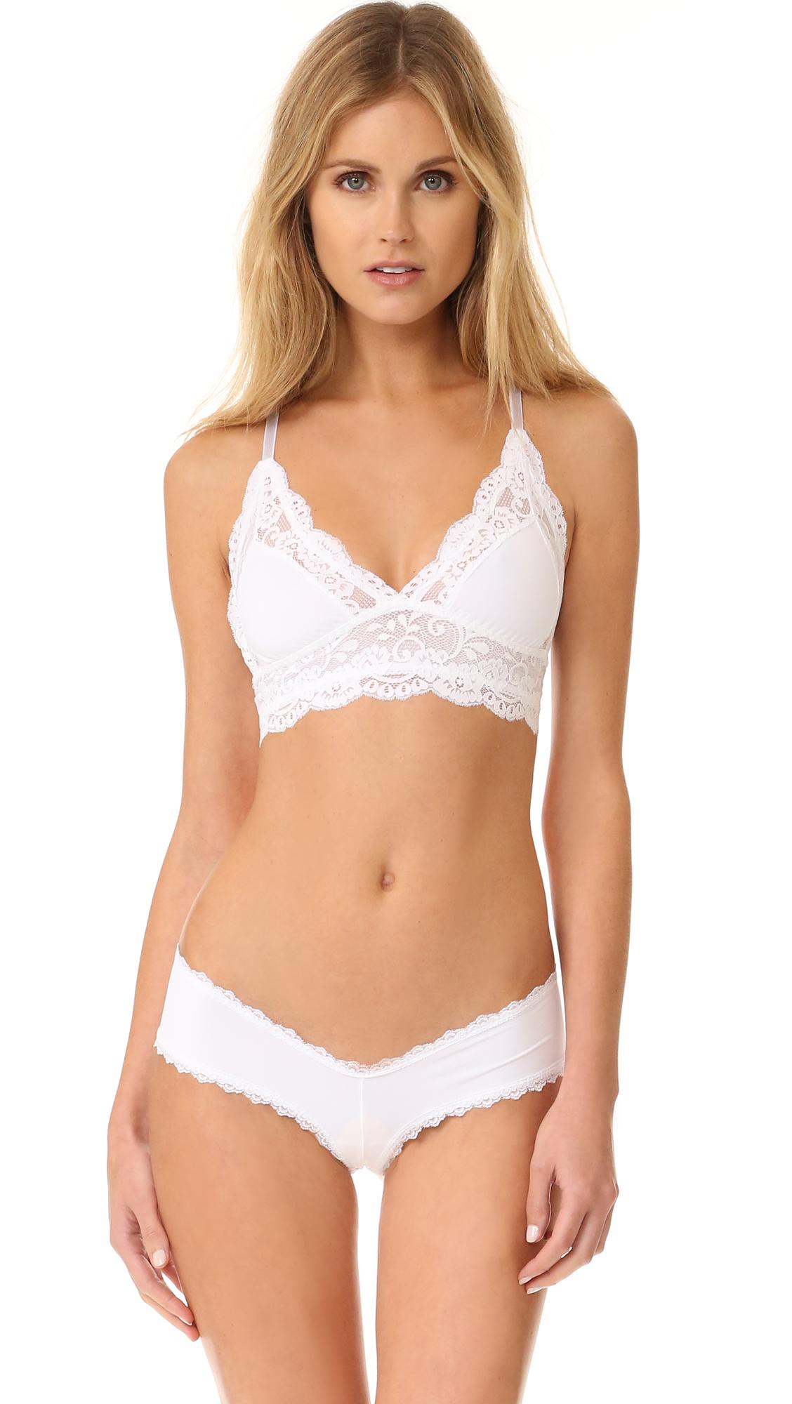 Les Coquines Jolie Bralette In Blanc