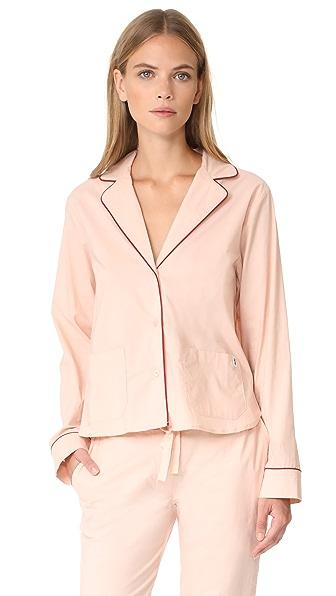 Les Girls, Les Boys Pyjama Top In Dust Pink